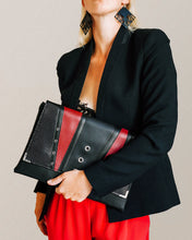 Load image into Gallery viewer, Clutch Torba Black & Vintage Red