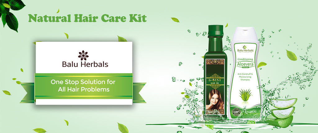 Ayurvedic Treatment for Hair Loss Prevention (Natural Hair Care Kit)