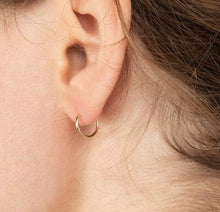 Load image into Gallery viewer, MICRO 14K SOLID GOLD EVERYDAY HOOPS