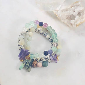 INNER KNOWING FLOURITE STACKING BRACELET