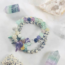 Load image into Gallery viewer, INNER KNOWING FLOURITE STACKING BRACELET