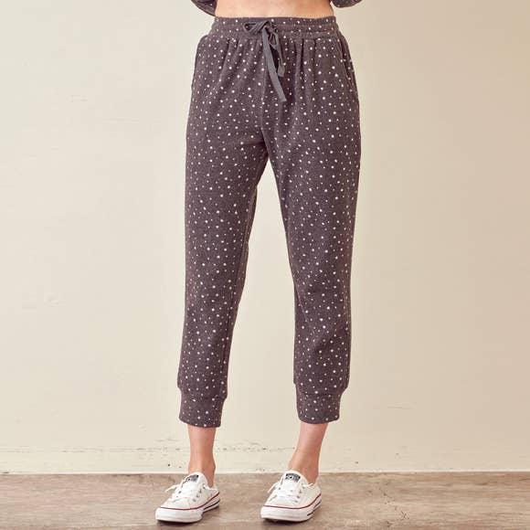 METALLIC STAR JOGGER PANTS