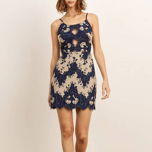 GEMMA MULTI LACE CUTOUT DRESS