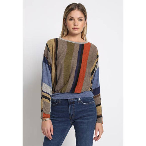 HENRIETTA ALL OVER STRIPE SWEATER