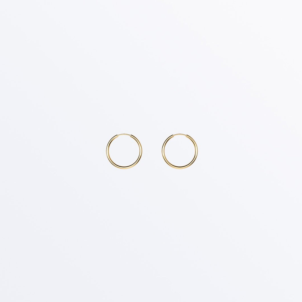 MICRO 14K SOLID GOLD EVERYDAY HOOPS