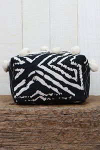 PAINTED ZEBRA QUILTED MINI BAG