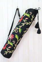 Load image into Gallery viewer, EMBROIDERED BOTANICAL YOGA BAG