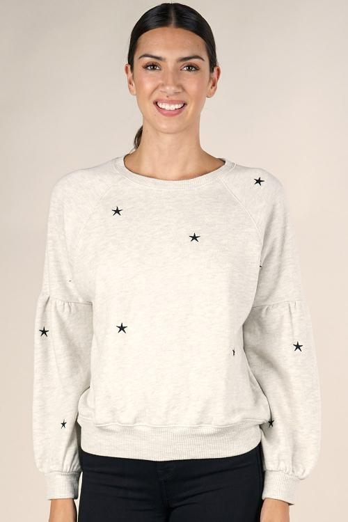 STAR DROP BISHOP PULLOVER SWEATSHIRT