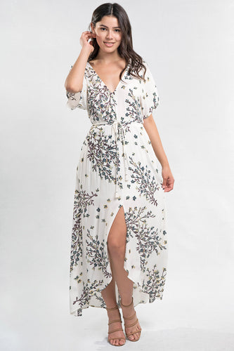 THE EMILY WRAP STYLE FLORAL DRESS