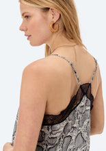 Load image into Gallery viewer, SNAKE PRINT LACE CAMI