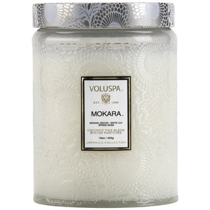 VOLUSPA / MOKARA GLASS JAR CANDLE  / 12 OZ