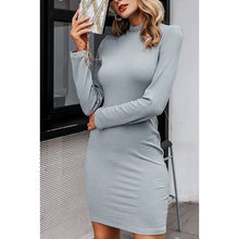 Load image into Gallery viewer, YORK MOCK NECK SWEATER DRESS
