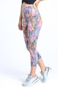 HIGHWAIST PSYCHEDELIC PAINT SPLATTER LEGGINGS