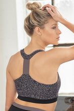 Load image into Gallery viewer, LEOPARD PRINT RACERBACK SPORTS BRA