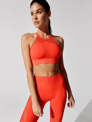 FINESSE CROP HIGH NECK SPORTS BRA