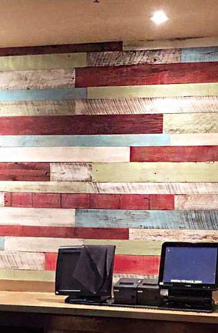 after reclaimed wallboard