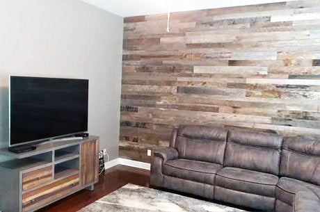 reclaimed wall planks