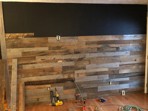 Reclaimed Barn Wood Wall