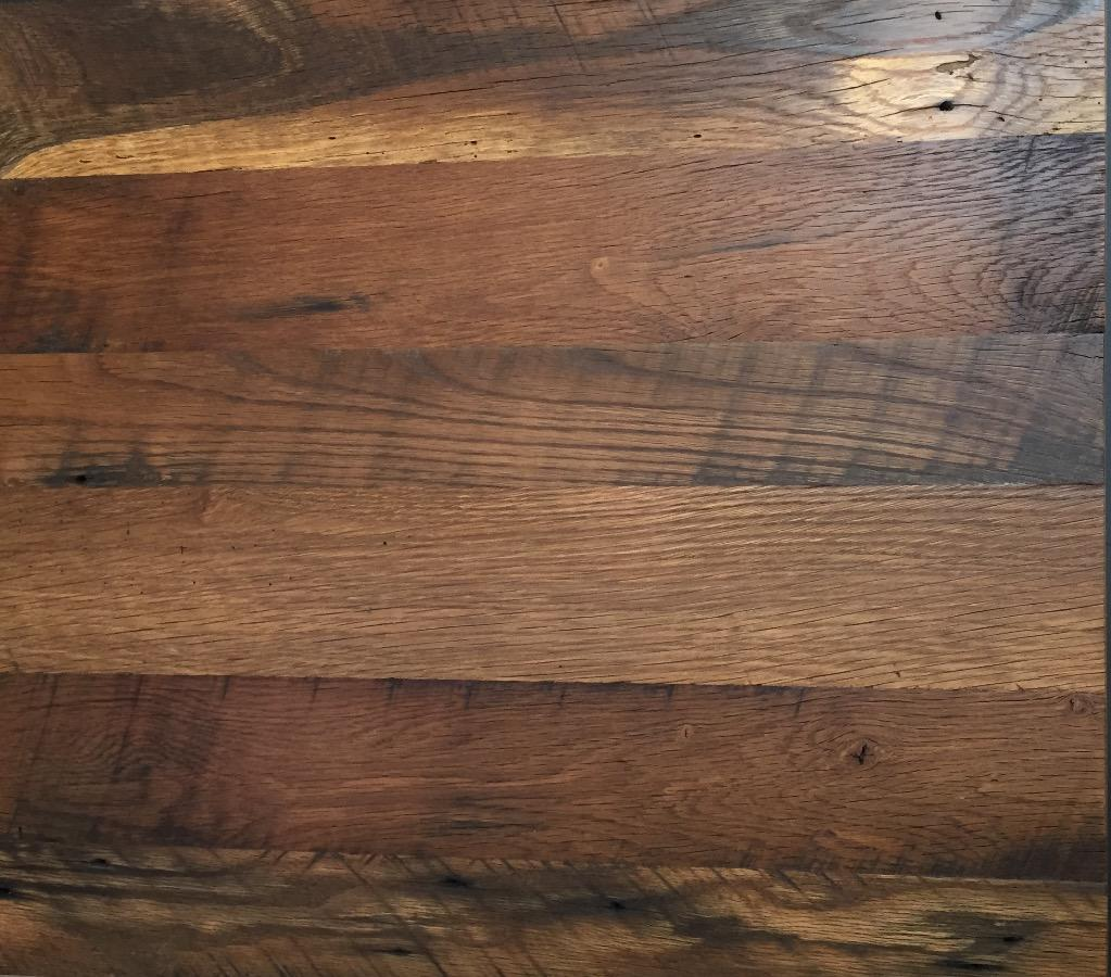 Close Op of Reclaimed Oak Flooring