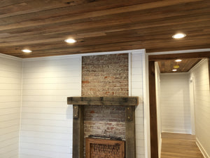 Rustic Quarter and Rift Sawn Oak Ceiling Paneling Planks