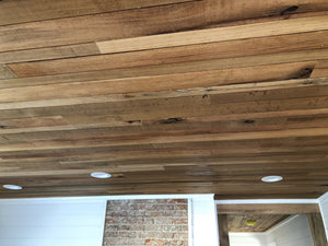 Reclaimed Barnwood Ceiling Planks