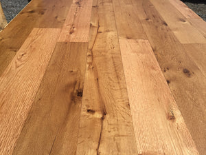 Reclaimed clean face oak flooring angle 2