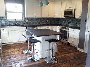 Reclaimed Oak Flooring in kitchen