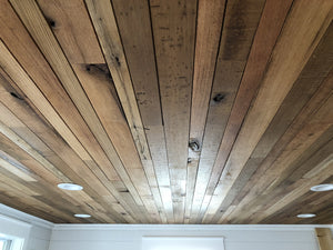 Rustic Quarter Sawn and Rift Sawn Oak Ceiling Plank