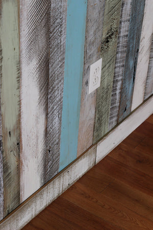 Blue, Green, White, Gray Wall Boards