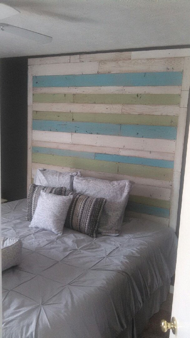Beach House Reclaimed Wall Board Accent Wall