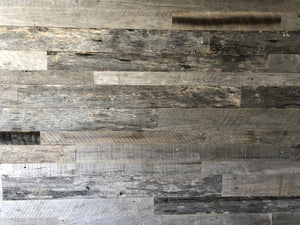 Chic Silver Grey Reclaimed Wall Paneling
