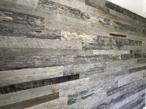 Elegant Silver Grey Reclaimed Wall Board Planks