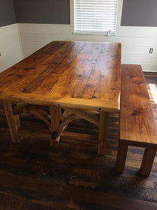 Threshing Farmhouse Table - Reclaimed Wood