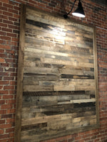Reclaimed Wall Board Brown Pre-Finished Accent Wall