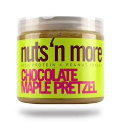 Nuts 'N More High Protein Chocolate Maple Pretzel Peanut Butter, 16oz (1494103228481)