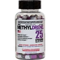 Cloma Pharma MethylDrene-25 Elite, 100 Oil-Infused Capsules (1494205431873)