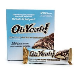Oh Yeah! Cookie Caramel Crunch Bars (Box of 12 / 85g Each)