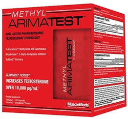 MuscleMeds Methyl ArimaTest, 120 Capsules + 60 SubZorb Tablets (1494115745857)