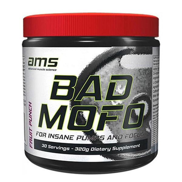 Advanced Muscle Science Bad Mofo, 30 servings (Fruit Punch) (1494046244929)