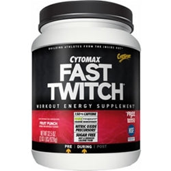 CytoSport Fast Twitch, 2.03lb (40 servings) (Fruit Punch)
