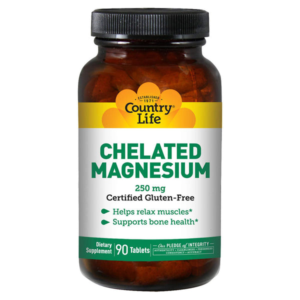 Country Life Chelated Magnesium 250mg 90T (3927758307393)