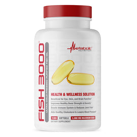 Metabolic Nutrition Fish 3000 180 Softgels (3926850994241)