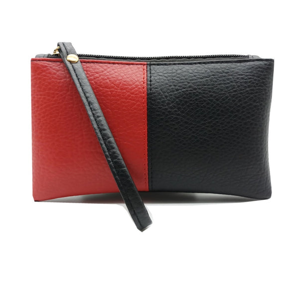 Black & Red Clutch Coin Purse
