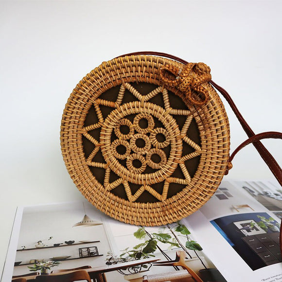 Round Woven Saddle Bag