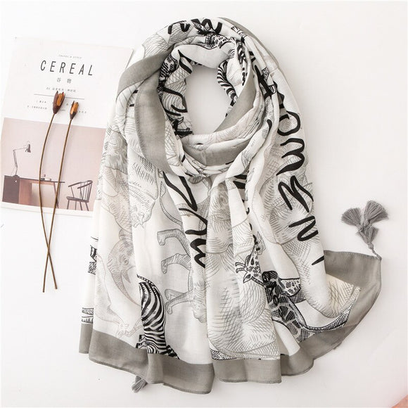 New! Animal Print Scarf/Wrap