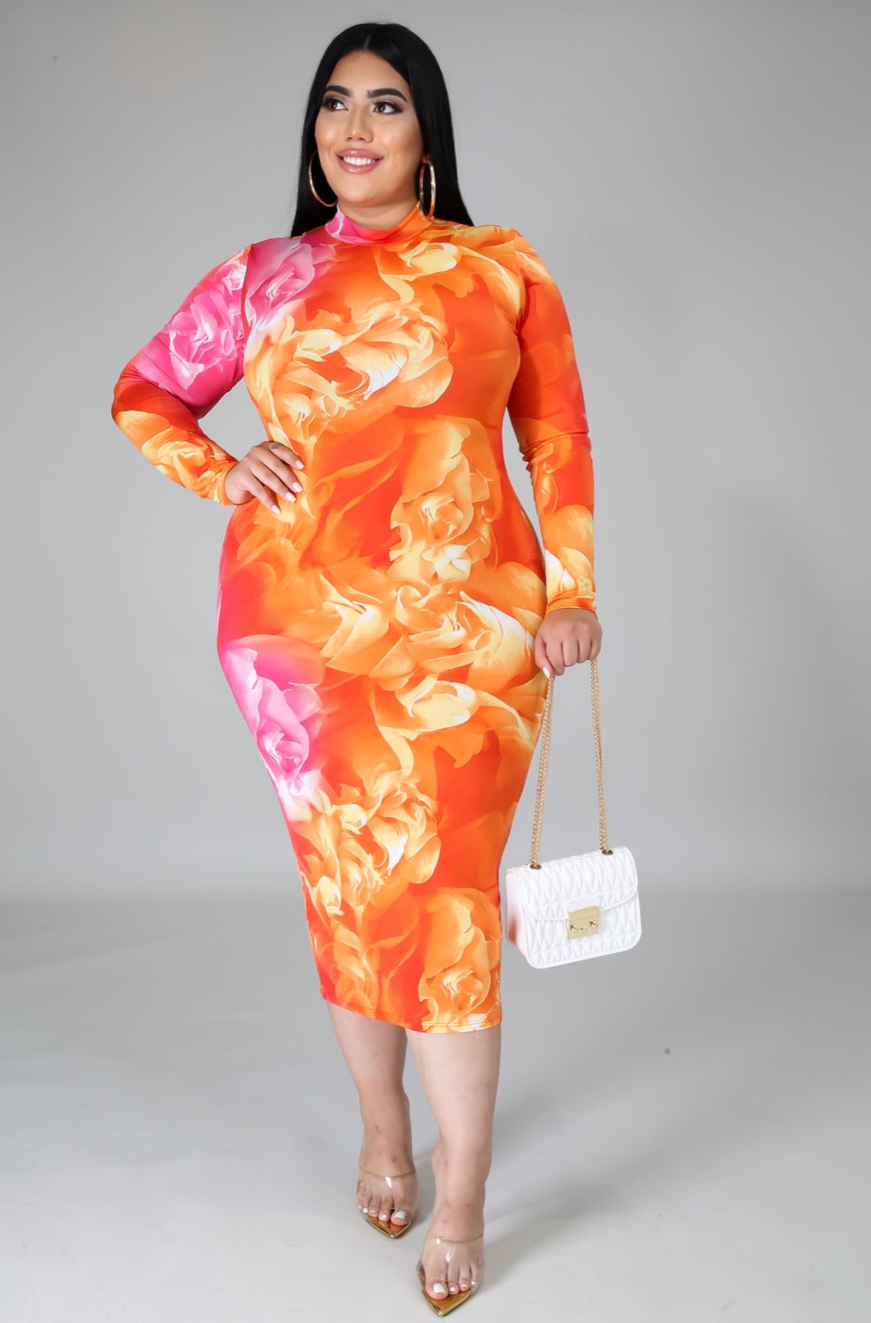 Sunset Floral Dress