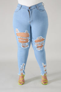 Vibrant Distressed Jeans ( light)