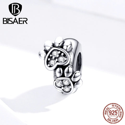 Footprints BISAER 925 Sterling Silver Animal Footprints