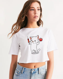 CoVid Cat Women's Cropped Tee