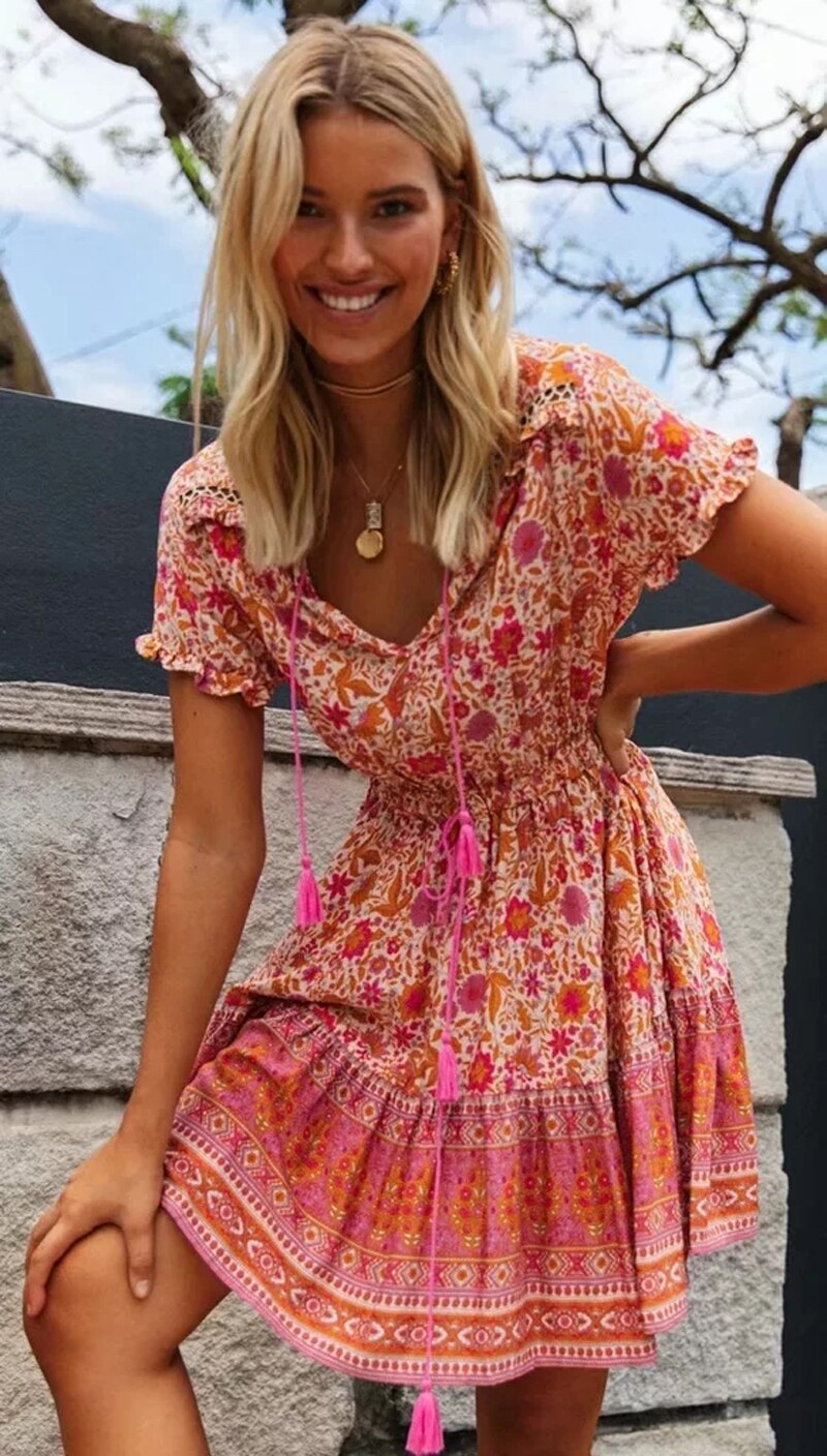 AYUALIN A-Line Loose Summer Dresses